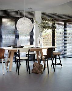 Houten jaloezieën Raamdecoratie Thuisin van Dijk